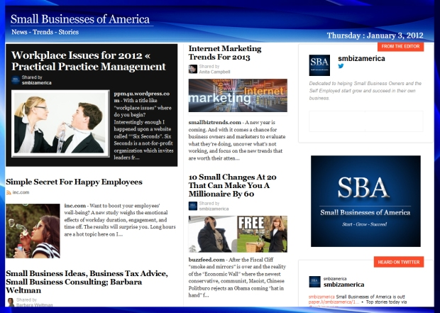 Small Businesses of America 010312