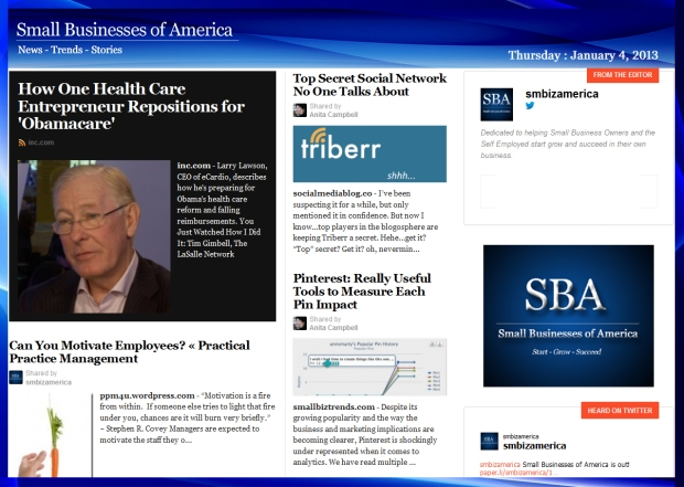 Small Businesses of America 010413
