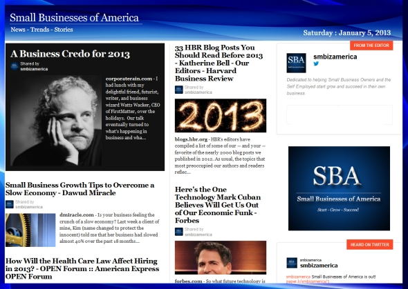Small Businesses of America 010513