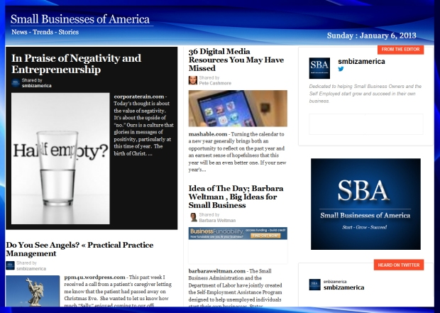 Small Businesses of America 010613